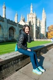 Katong Tutor Yuet Ling in Cambridge University, King's College, UK.